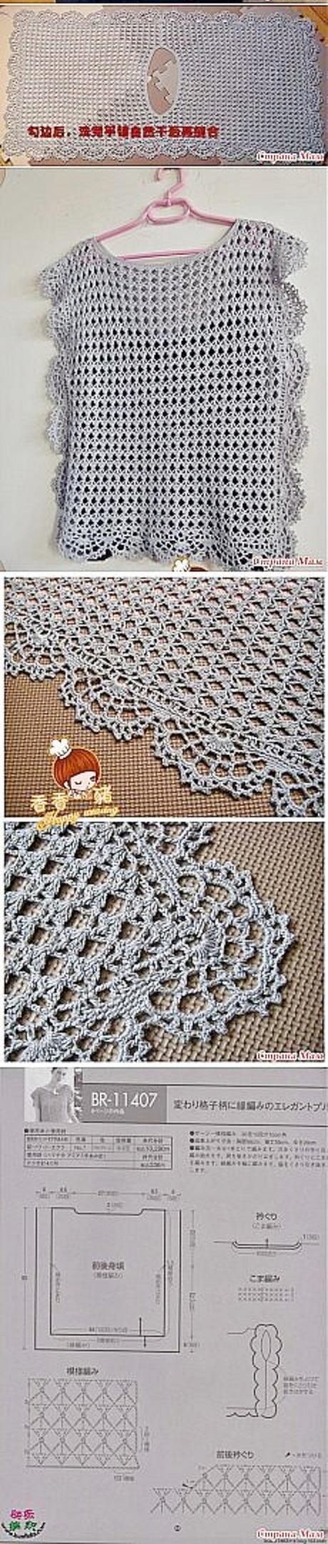patron blusa facil crochet-otakulandia.es