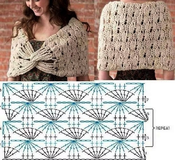 25 Patrones de Ponchos y Cuellos en Crochet | Otakulandia.es