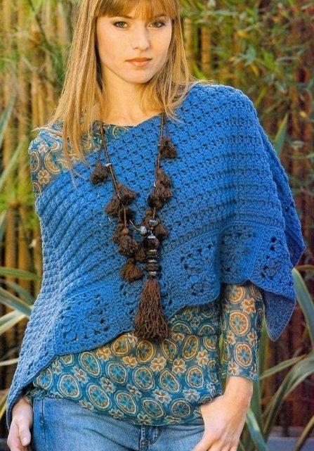 poncho patron facil crochet-otakulandia.es
