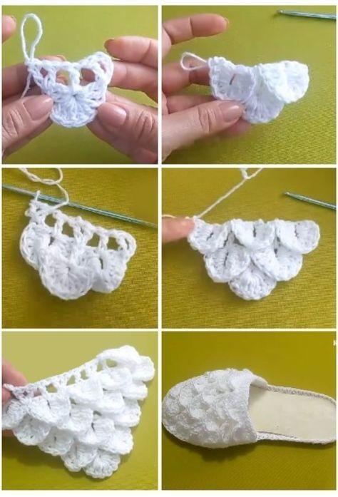 tutorial zapatilla crochet sra. punto cocodrilo-otakulandia.es