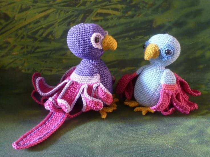 Aves y pajaritos crochet-otakulandia.es (11)