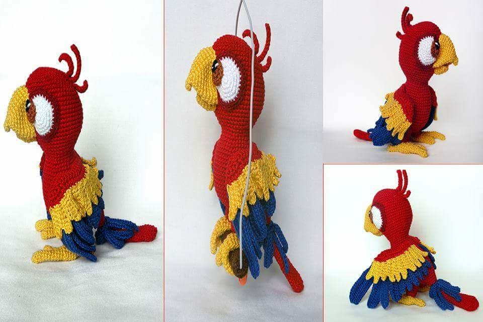 Aves y pajaritos crochet-otakulandia.es (15)