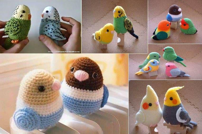 Aves y pajaritos crochet-otakulandia.es (17)