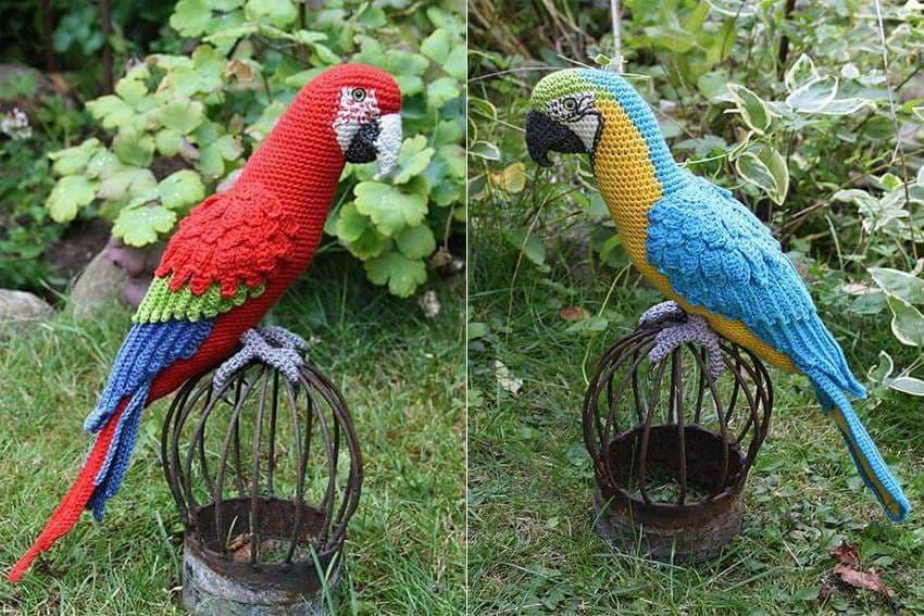 Aves y pajaritos crochet-otakulandia.es (18)