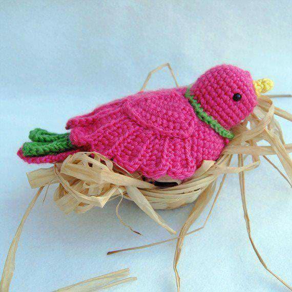 Aves y pajaritos crochet-otakulandia.es (19)