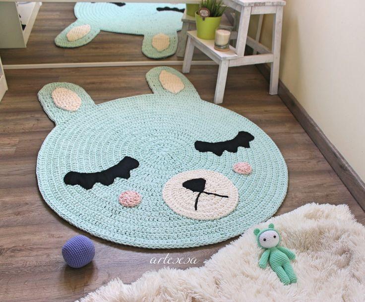 125 alfombras y cojines de crochet flipantes - Alfombras habitacion nino ...