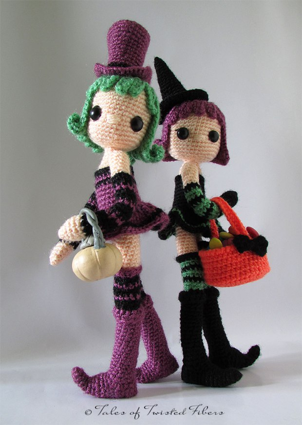 Halloween Special-Violet & Ivy-Amigurumi Pattern by Tales of Twisted Fibers