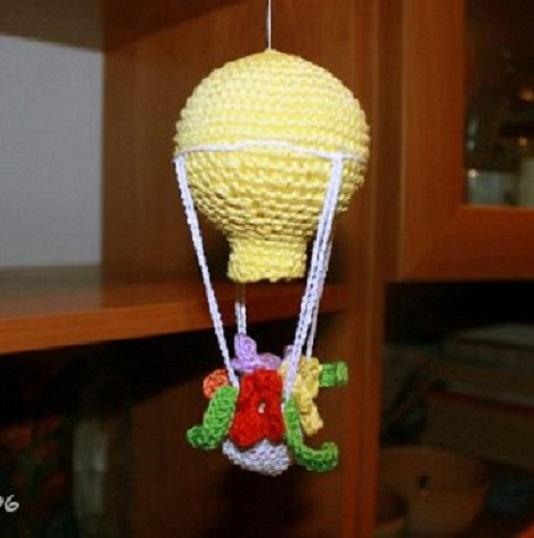 movil bebe globos crochet-otakulandia.es