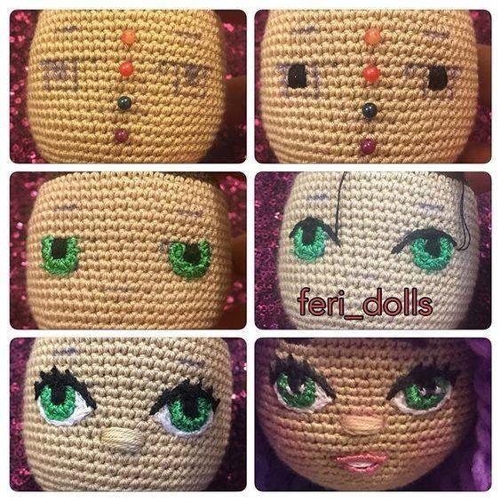 ojos amigurumis-crochet-otakulandia.es