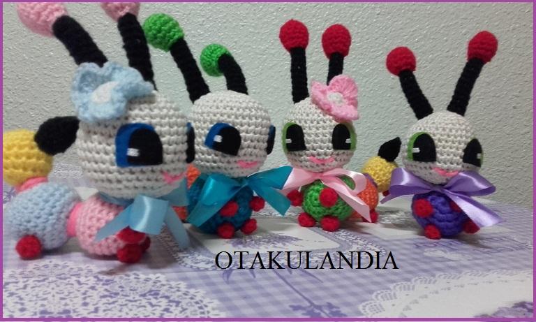 Oruguitas Lindas crochet-otakulandia.es