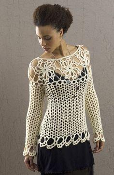 blusa-chaqueta-senora-navidad-crochet-otakulandia.es (1)