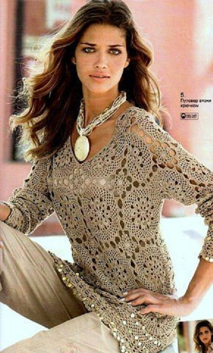 blusa-chaqueta-senora-navidad-crochet-otakulandia.es