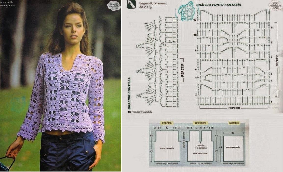 blusa navidad crochet-esquema-otakulandia.es (1)