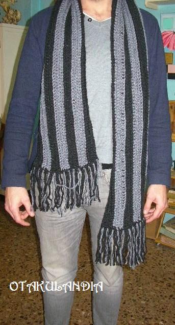 bufanda rayas verticales crochet-otakulandia.es