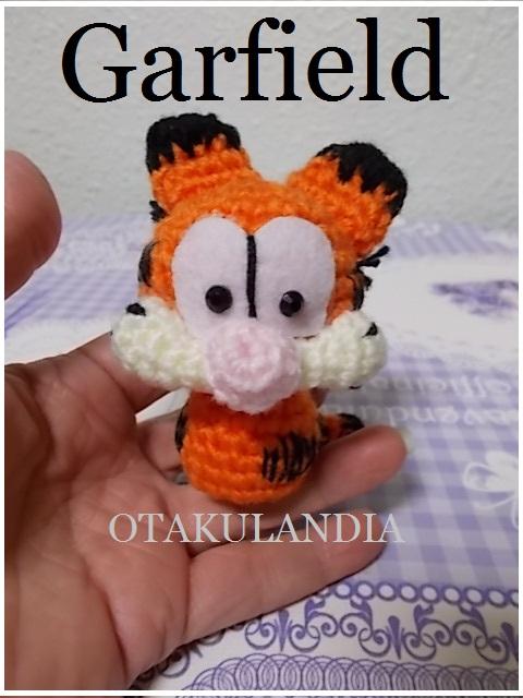 garfield llavero crochet-otakulandia.es