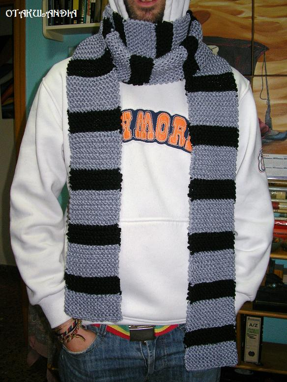 bufanda larga caballero-crochet-otakulandia.es