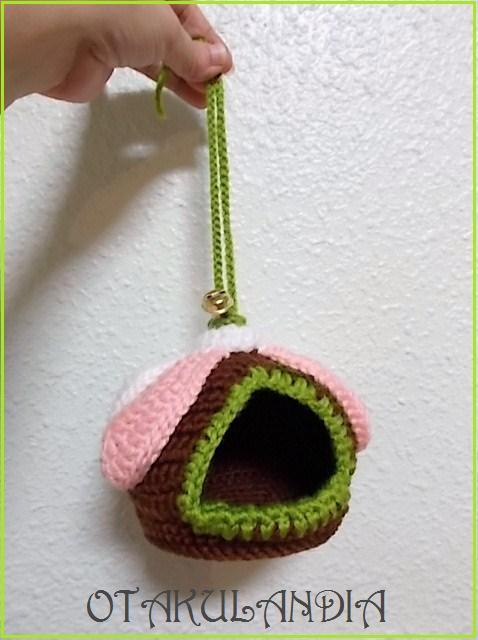 nido agaporni flor crochet-otakulandia.es