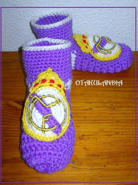 pantuflas real madrid crochet-otakulandia.es