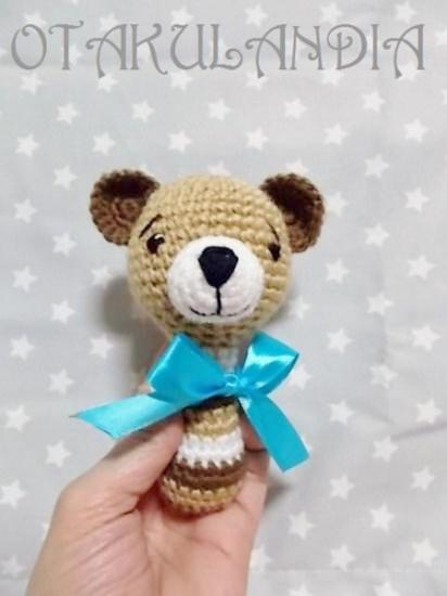 sonajero osete crochet-otakulandia.es