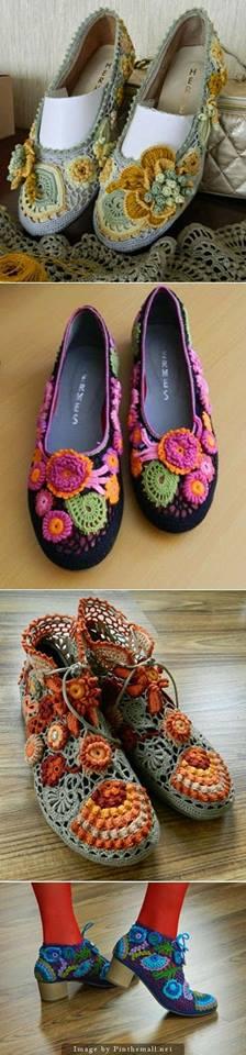 zapatilla navidad crochet-otakulandia.es (10)