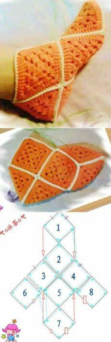 zapatilla navidad crochet-otakulandia.es (11)
