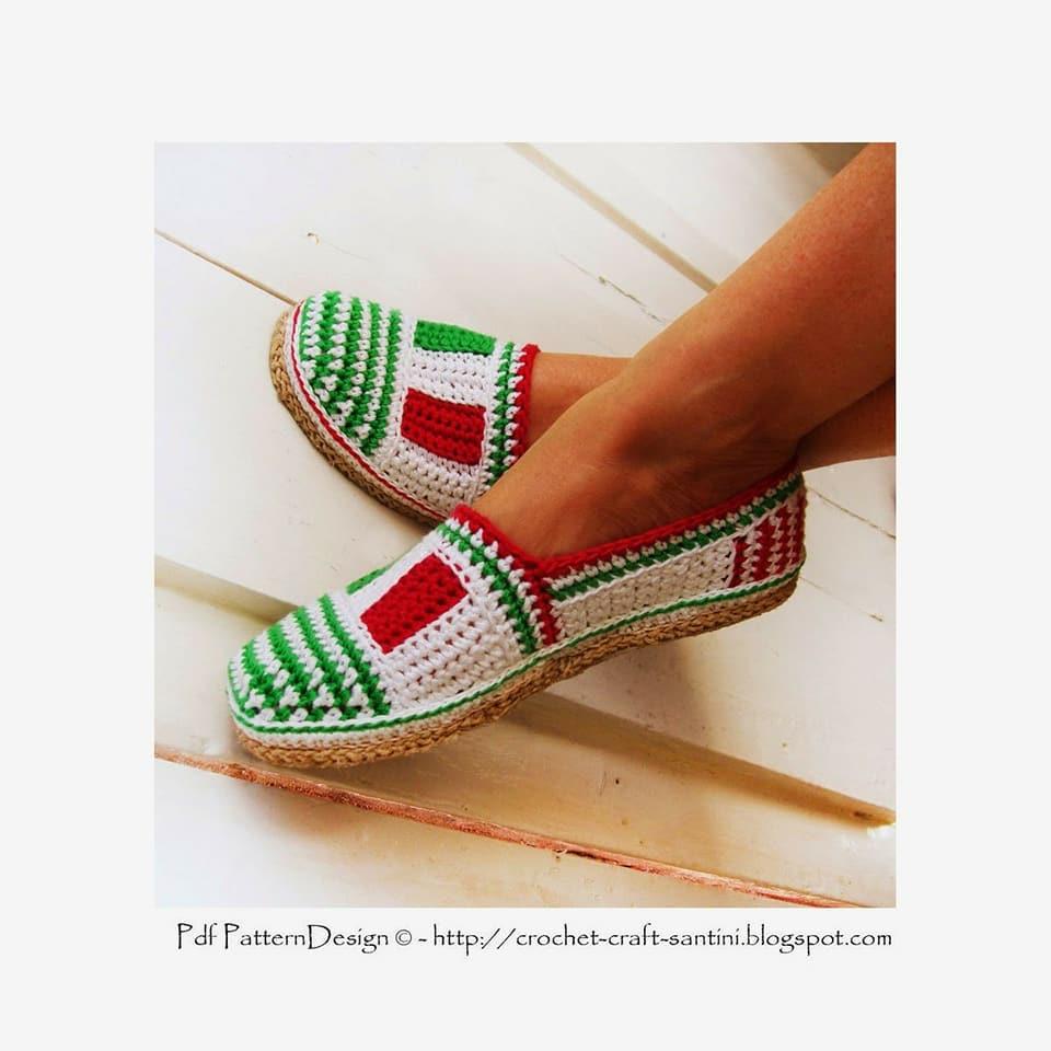 zapatilla navidad crochet-otakulandia.es (15)