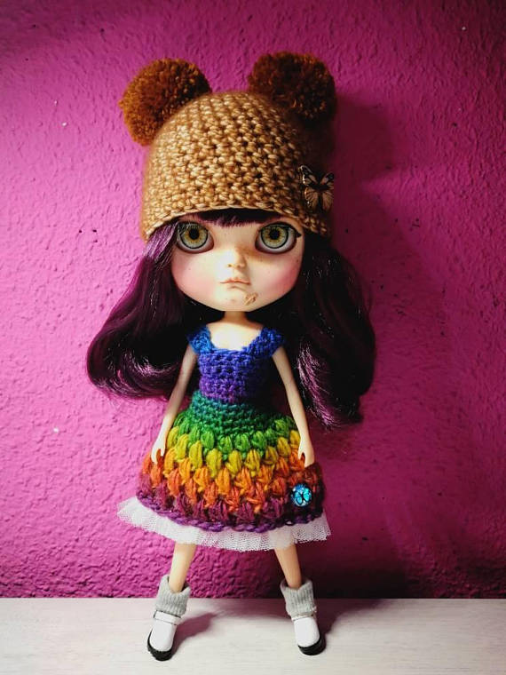 blythe-conjunto crochet-otakulandia.es