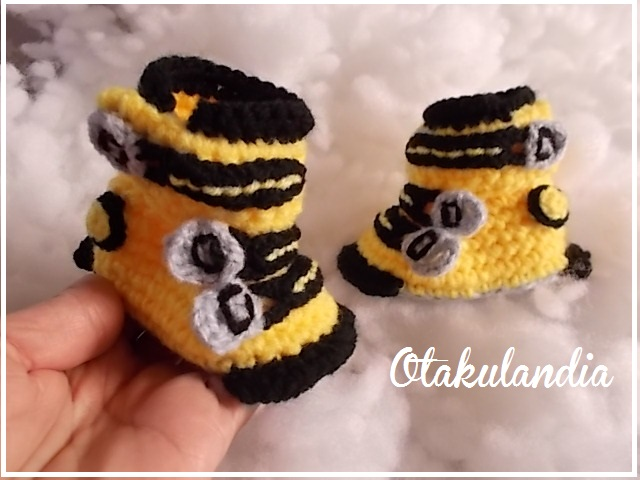 botas ski bebe crochet-amarillas-otakulandia.es (1)