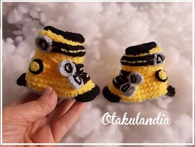 botas ski bebe crochet-amarillas-otakulandia.es (2)
