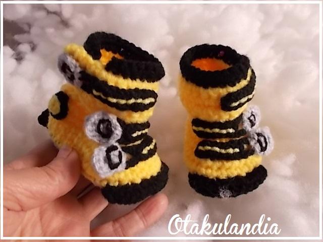 botas ski bebe crochet-amarillas-otakulandia.es (3)