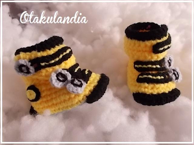botas ski bebe crochet-amarillas-otakulandia.es (4)