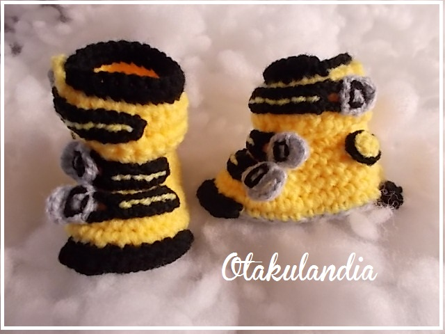 botas ski bebe crochet-amarillas-otakulandia.es (5)