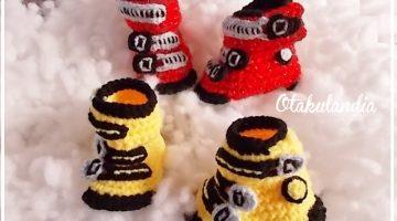 botas ski bebe crochet-otakulandia.es