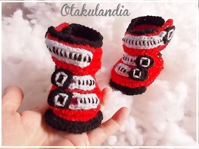 botas ski bebe crochet-rojas-otakulandia.es (1)