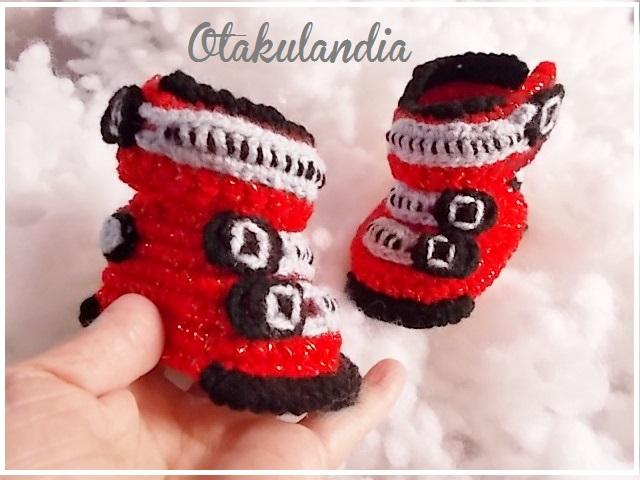 botas ski bebe crochet-rojas-otakulandia.es (2)
