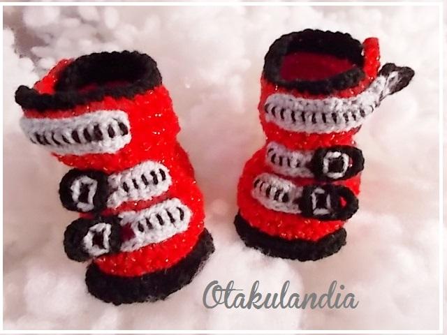 botas ski bebe crochet-rojas-otakulandia.es (3)