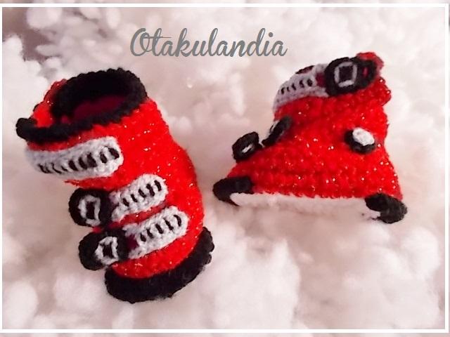 botas ski bebe crochet-rojas-otakulandia.es (4)