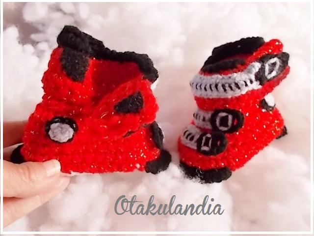 botas ski bebe crochet-rojas-otakulandia.es (5)