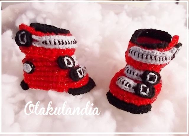 botas ski bebe crochet-rojas-otakulandia.es (6)