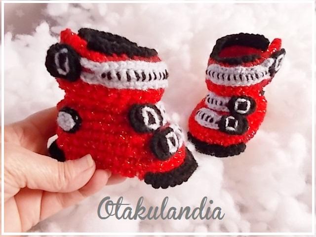 botas ski bebe crochet-rojas-otakulandia.es (7)