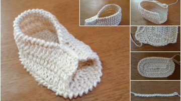 sandalia facil-bebe crochet-paso a paso-otakulandia.es
