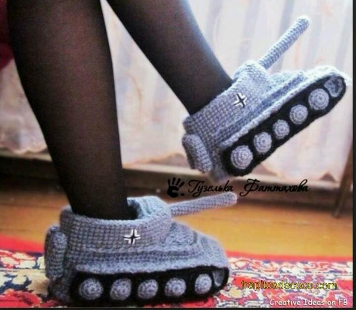 zapatillas-tanque-panzer-crochet-otakulandia.es
