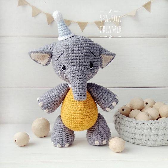 elefante bebe crochet-otakulandia.es (1)