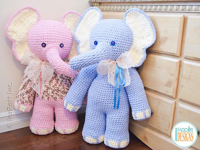 elefante bebe crochet-otakulandia.es (11)