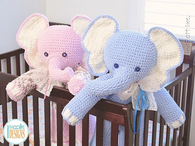 elefante bebe crochet-otakulandia.es (12)