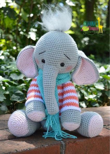 elefante bebe crochet-otakulandia.es (13)