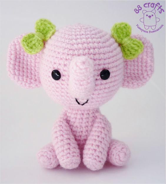 elefante bebe crochet-otakulandia.es (14)