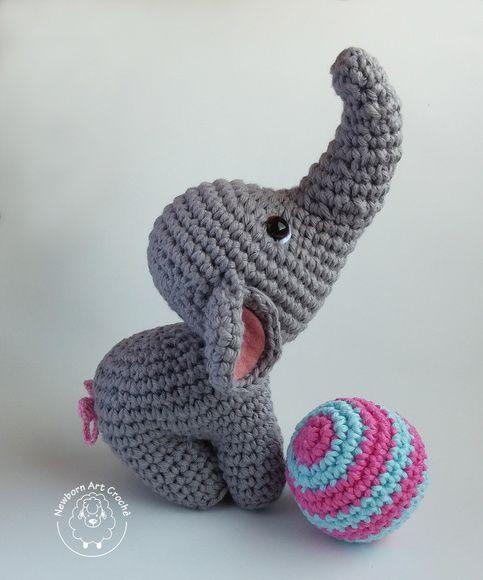 elefante bebe crochet-otakulandia.es (15)