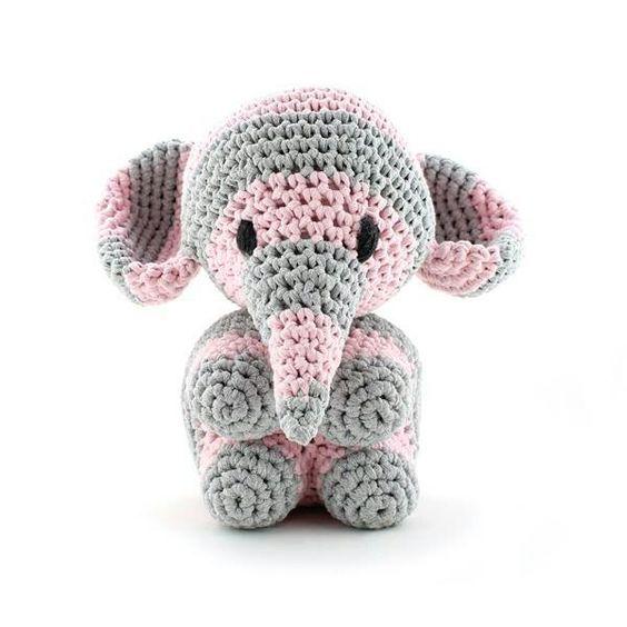 elefante bebe crochet-otakulandia.es (16)