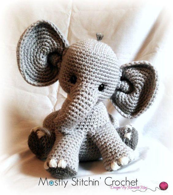 elefante bebe crochet-otakulandia.es (18)